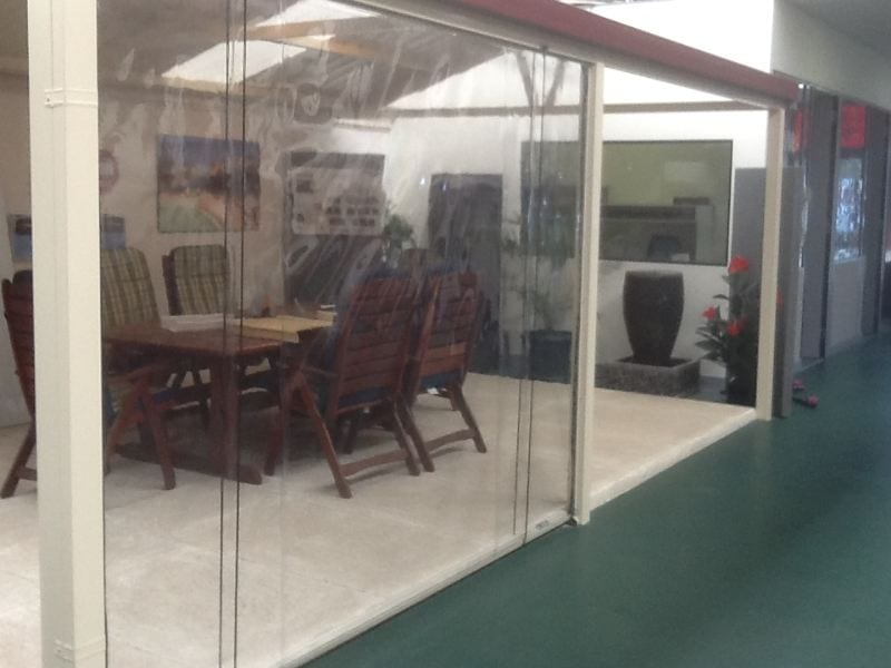 See Through Cafe Blinds Fro Outdoor Patio Design At One Stop Patio Shop Showroom In Perth