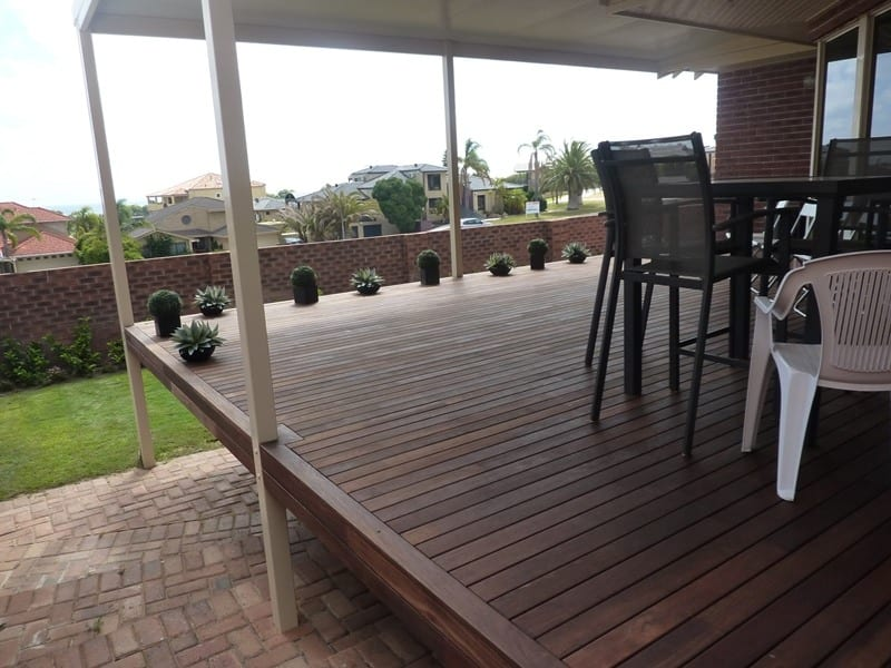 Outdoor Decking Under Patio At Perth Property