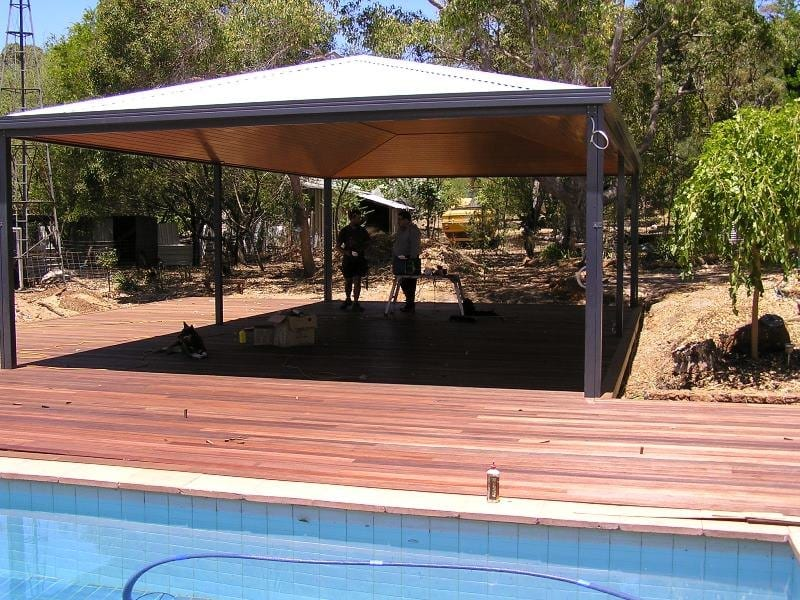 Outdoor Decking Around Pool And Under Patio In Perth